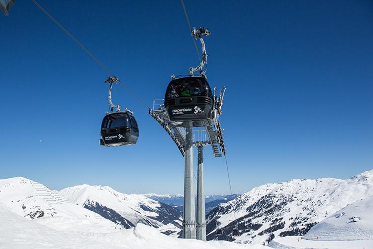 Skigebiet Gondeln Hochfügen Zillertal Skifahren Lifte Liftbetreiber