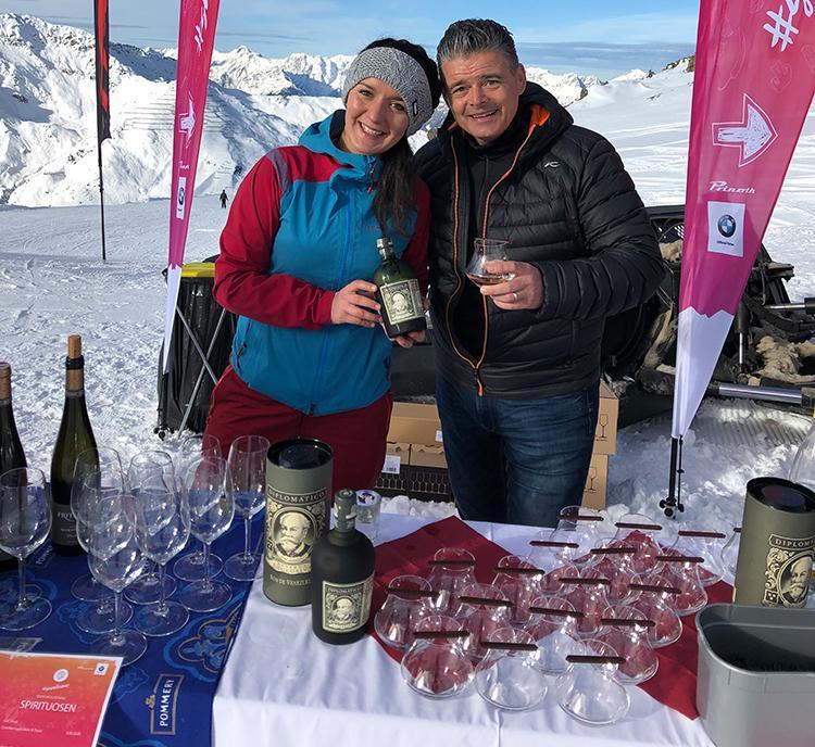 Snowlicious Rum Schokolade Diplomatico Vergnügen im Schnee Pistenspaß Après Ski