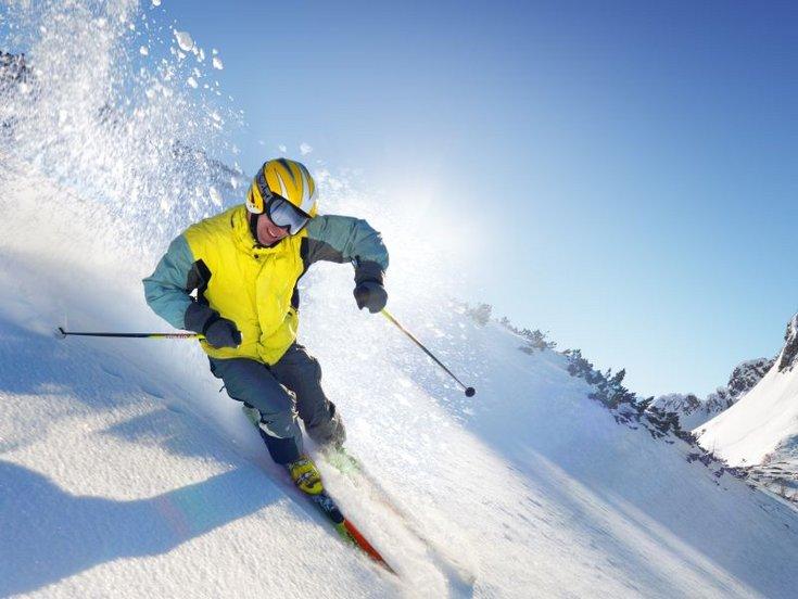 Skischule Aktiv Tiefschnee Profiskifahrer Skifahren Skibegeisterung
