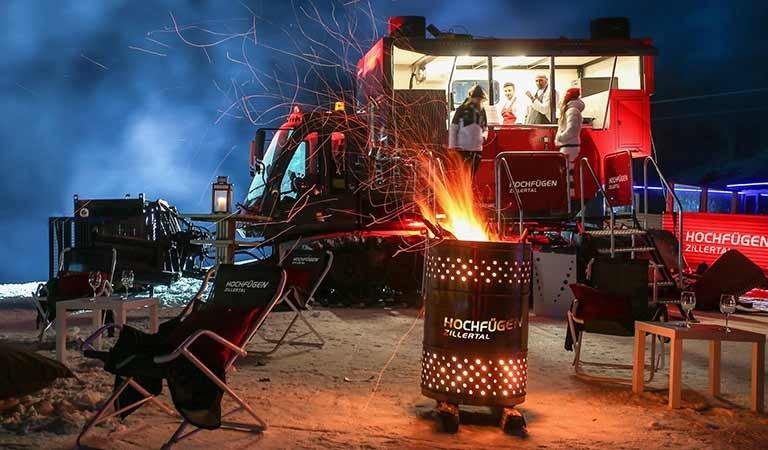 Foodtruck TV-Koch Alexander Fankhauser Winter Skigebiet Hochfügen Zillertal