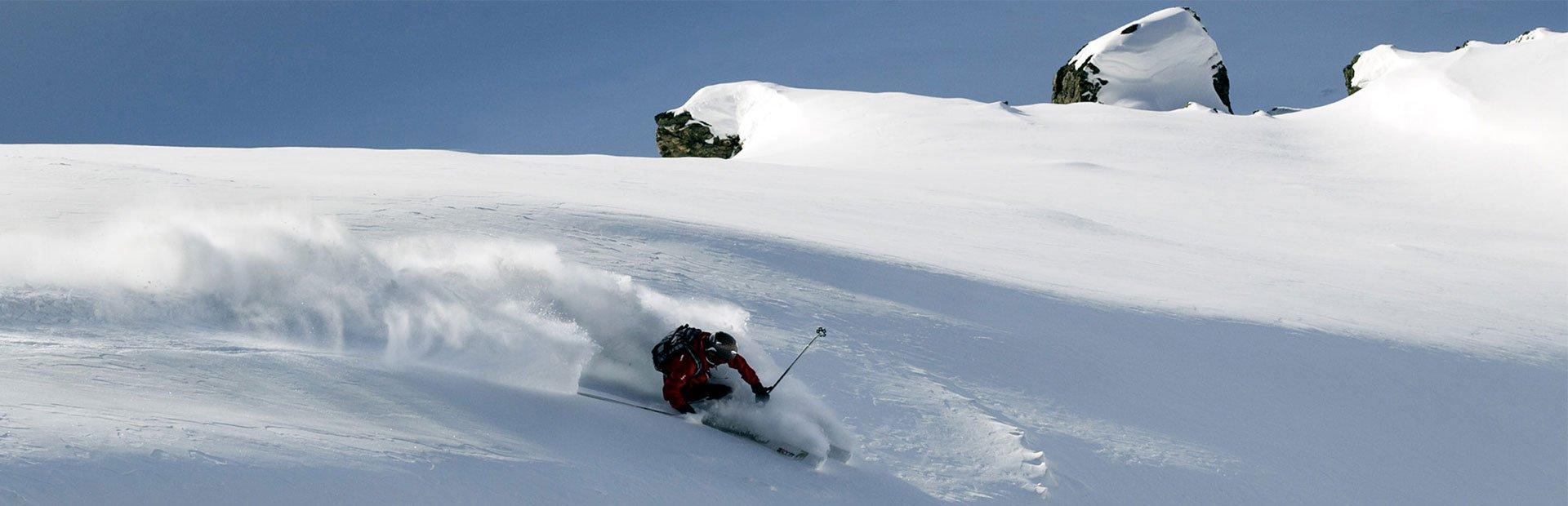 Skifahren Freies Gelände Hochfügen Powder Wintersaison Zillertaler Alpen