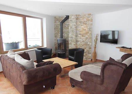 Chalet Apart Hochfügen Cirrus Wohnzimmer Ausstattung