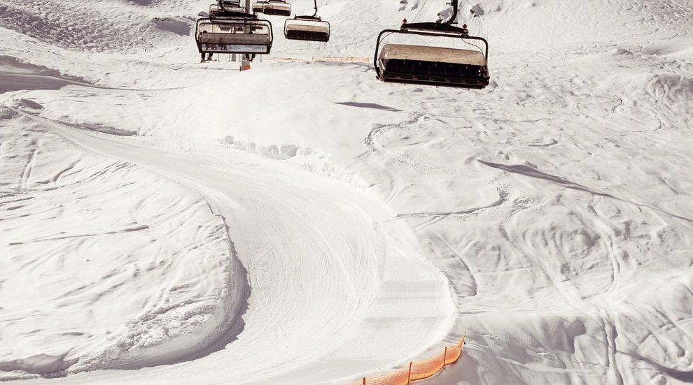 Zillertal Funline Hochfügen Steilkurven Skifahrer Pistenplan