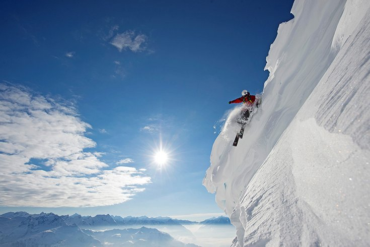 Schneewechte Zillertal Winter Tiefschnee