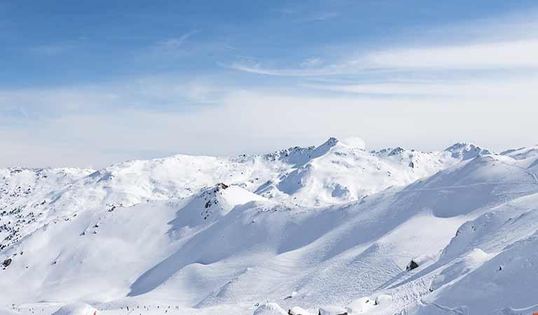 Tiefschnee Hochfügen Hochplateau Zillertal Schneesicherheit Skiurlaub Wintersport