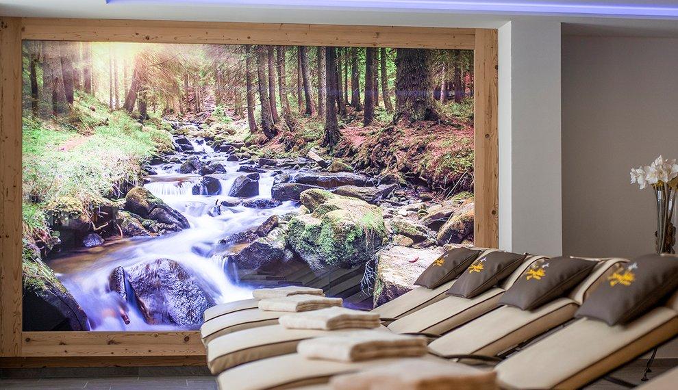 Sauna Berghotel Hochfügen Ruhe Zillertal Entspannung Skiurlaub Winter
