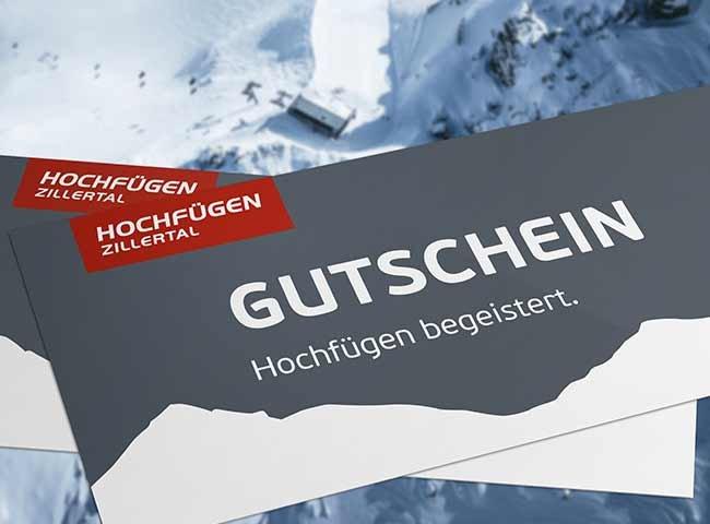 Gutschein Zillertal Hochfügen Geschenk Wintersport Schnee Tirol