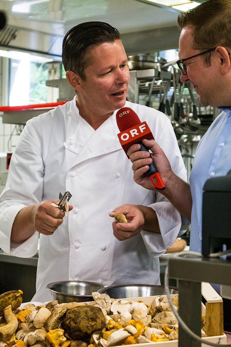 Haubenküche ORF-Sendung Hochfügen Sporthotel Lamark Alex Fankhauser Interview