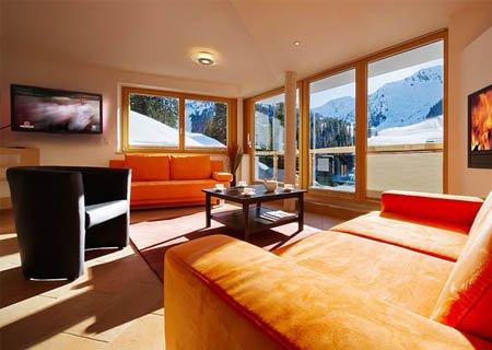 Hotel Chalet Apart Hochfügen Wohnbereich Hotelzimmer