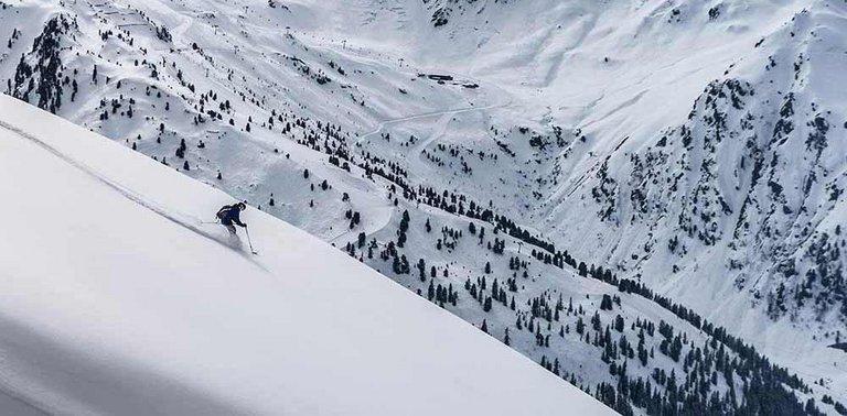 Line Powder Schneegestöber Hochfügen Skiparadies