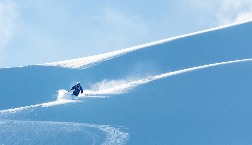 Skigebiet Hochfügen Skifahren Freies Gelände Winterzeit Schnee Freeriden
