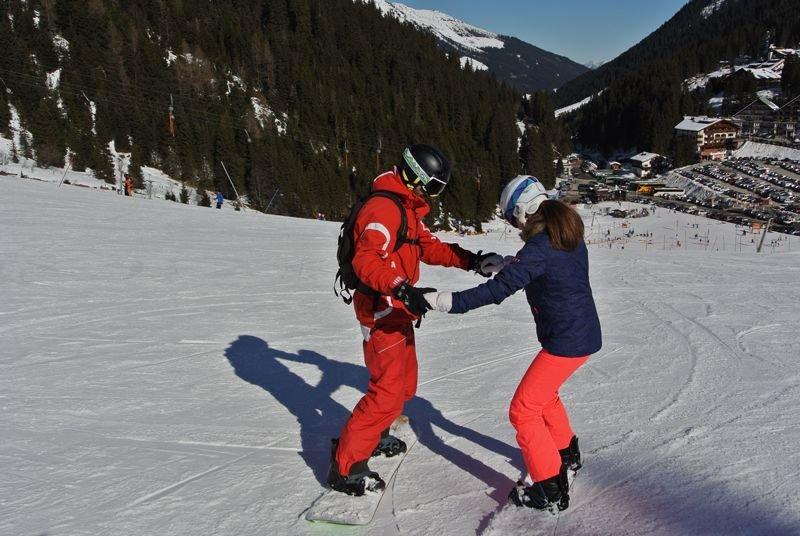 Snowboard Skischule Kostenzer Snowboardlehrer Schneespaß Zillertal
