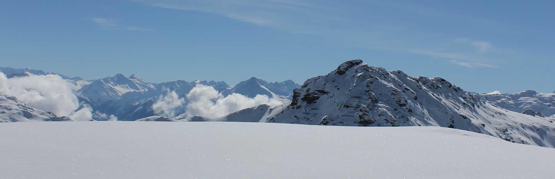 Freeride Tiefschnee Powder Tirol Skigebiet