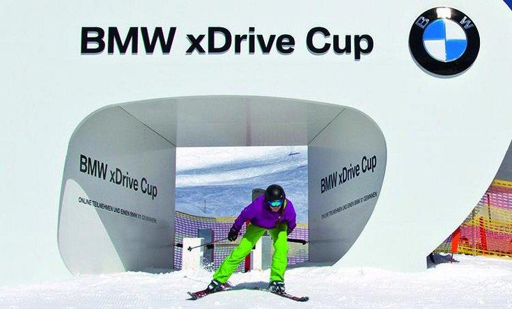 BMW xdrive Cup Skirennen Wettbewerb Skirennstrecke Hochfügen