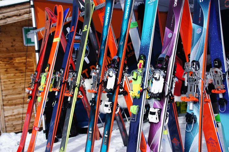 Skitest Telemark Hochfügen Wintersport
