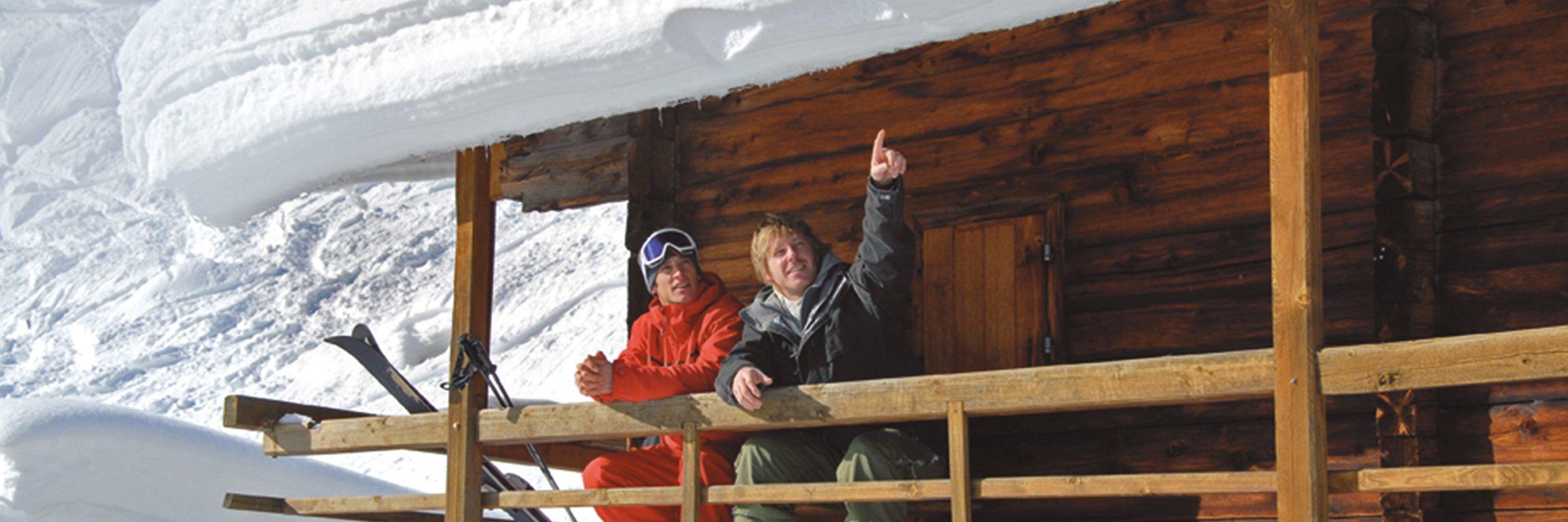 Freunde Skifahren Hochfuegen