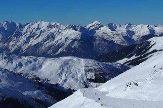 Der Pistenplan im Skigebiet Hochfügen im Zillertal