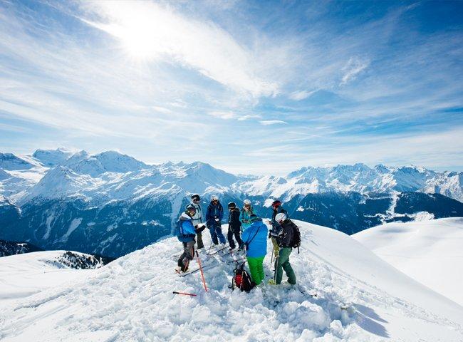 Freeride Hochfügen abseits der Piste Skitouren
