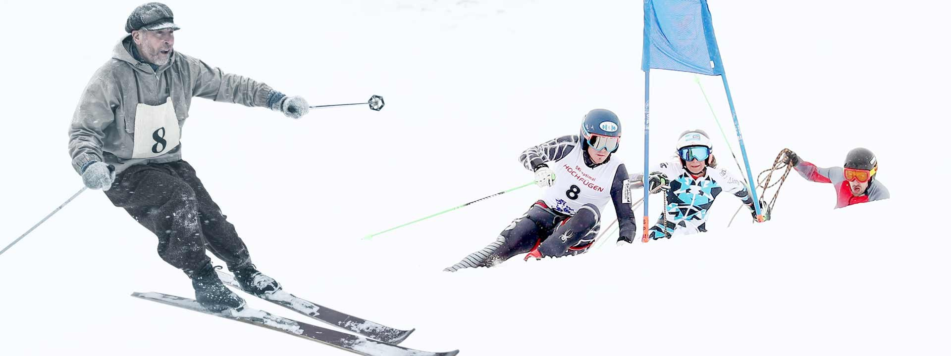 Seilrennen Skiurlaub Tradition Winter Hochfügen Skifahren Tirol
